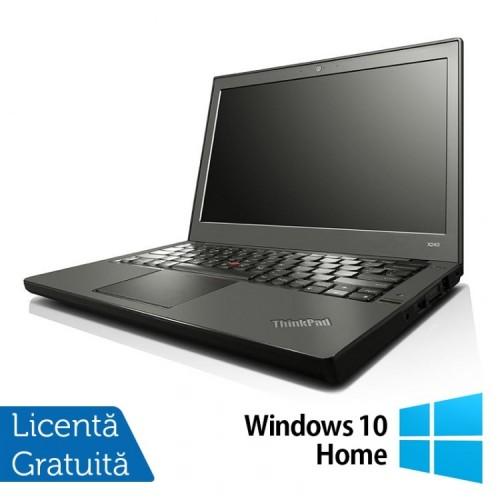 Laptop Lenovo ThinkPad X240, Intel Core i3-4010U 1.70GHz, 4GB DDR3, 500GB SATA, 12 Inch + Windows 10 Home, Refurbished