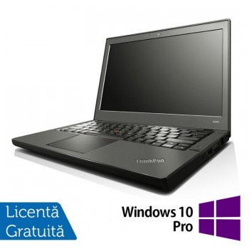 Laptop LENOVO Thinkpad x240, Intel Core i7-4600U 2.10GHz, 8GB DDR3, 240GB SSD, 12 Inch + Windows 10 PRO