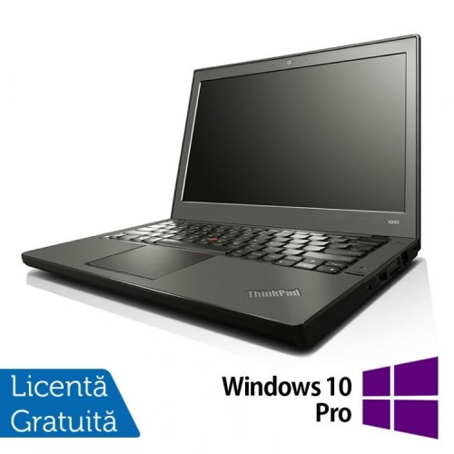 Laptop Refurbished Lenovo Thinkpad x240, Intel Core i5-4300U 1.90GHz, 8GB DDR3, 120GB SSD, 12 Inch + Windows 10 PRO