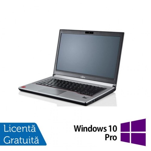 Laptop Refurbished Fujitsu LIFEBOOK E743, Intel Core i7-3632QM 2.20GHz, 8GB DDR3, 240GB SSD, 14 Inch + Windows 10 Pro