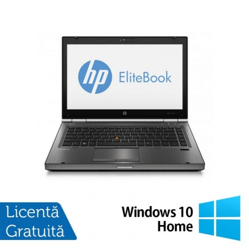 Laptop Refurbished HP EliteBook 8470p, Intel Core i5-3210M 2.50 GHz, 8GB DDR 3, 500GB SATA, DVD-RW, 14 inch LED + Windows 10 Home