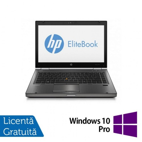 Laptop Refurbished HP EliteBook 8470p, Intel Core i5-3210M 2.50 GHz, 8GB DDR 3, 500GB SATA, DVD-RW, 14 inch LED + Windows 10 PRO