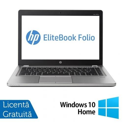 Laptop Refurbished HP EliteBook Folio 9470M, Intel Core i5-3337U 1.80GHz, 8GB DDR3, 120GB SSD, Webcam, 14 Inch + Windows 10 Home