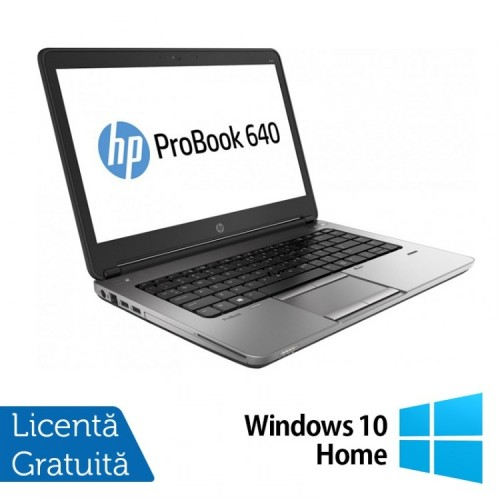 Laptop Refurbished HP ProBook 640 G1, Intel Core i5-4200M 2.50GHz, 4GB DDR3, 500GB SATA, Webcam, 14 inch + Windows 10 Home