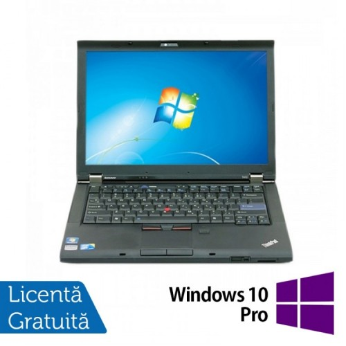 Laptop Refurbished LENOVO T410, Intel Core i5-520M 2.40 GHz, 4GB DDR3, 160GB SATA, DVD-RW, 14.1 Inch + Windows 10 Pro