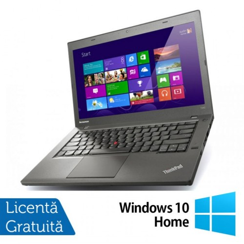 Laptop Refurbished LENOVO ThinkPad T440, Intel Core i5-4300U 1.90GHz, 8GB DDR3, 128GB SSD, 1600x900 + Windows 10 Home
