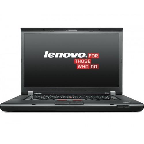 Laptop refurbished Lenovo ThinkPad T530 I5-3320M 2.6GHz up to 3.3 GHz 4GB DDR3 HDD 320GB Sata DVD 15.6 inch Webcam Soft Preinstalat Windows 10 Home