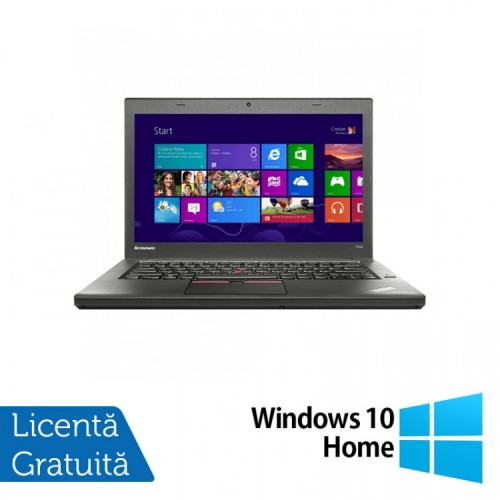 Laptop Second Hand LENOVO ThinkPad T450, Intel Core i5-5300U 2.30GHz, 8GB DDR3, 320GB SATA + Windows 10 Home, Refurbished