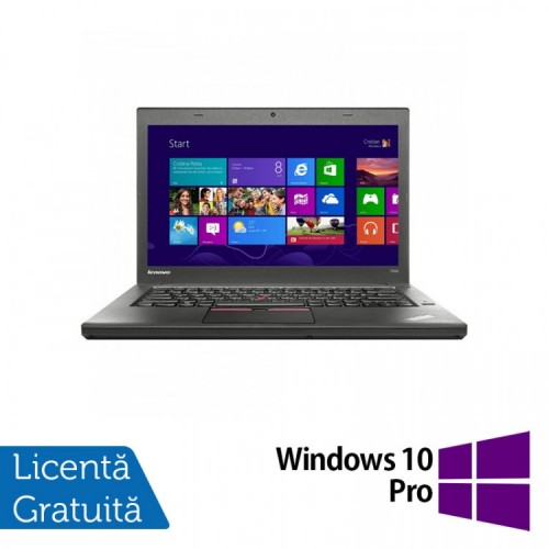 Laptop Second Hand LENOVO ThinkPad T450, Intel Core i5-5300U 2.30GHz, 8GB DDR3, 320GB SATA + Windows 10 Pro, Refurbished