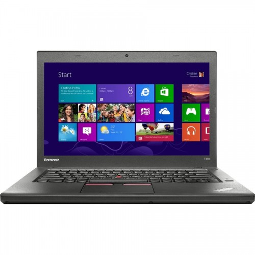 Laptop Second Hand LENOVO ThinkPad T450, Intel Core i5-5300U 2.30GHz, TouchScreen, 8GB DDR3, 240GB SSD, 1600x900, Grad A-