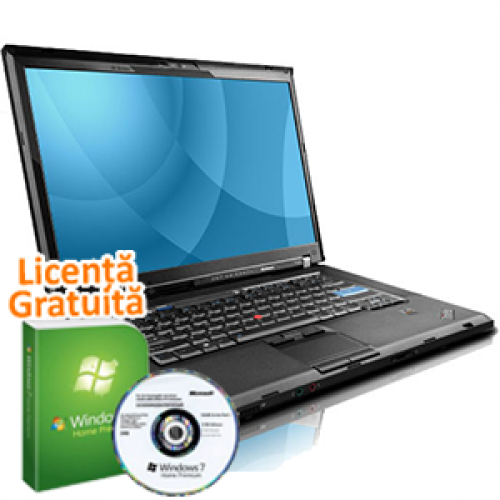 Laptop Lenovo T500, P8400 2.2Ghz, 4Gb DDR3, 160Gb, Wi-Fi, DVD-RW, 15.4 Inci, ATI 3650 + Win 7 Premium