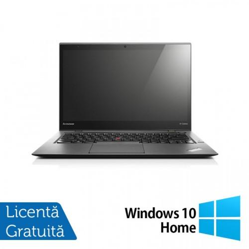 Laptop Lenovo ThinkPad X1 CARBON, Intel Core i5-4200U 1.60GHz, 8GB DDR3, 180GB SSD, 14 Inch + Windows 10 Home, Refurbished