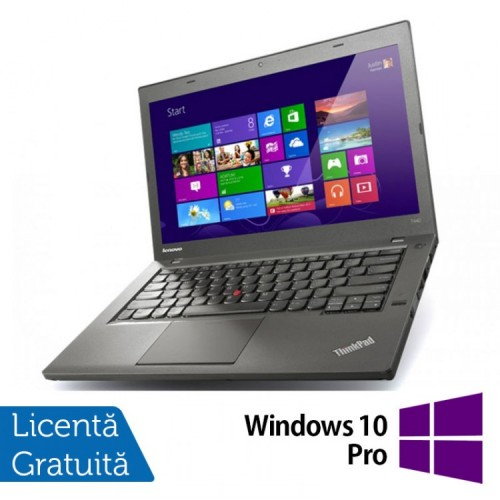 Laptop Refurbished LENOVO ThinkPad T440, Intel Core i5-4300U 1.90GHz, 8GB DDR3, 128GB SSD, 1600x900 + Windows 10 Pro
