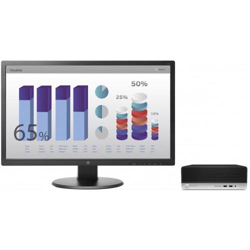 Pachet PC+LCD HP ProDesk 400 G4 Intel Core I3-6100 3.70Ghz Gen a 6-a, 4GB DDR4 500GB Sata DVD SFF