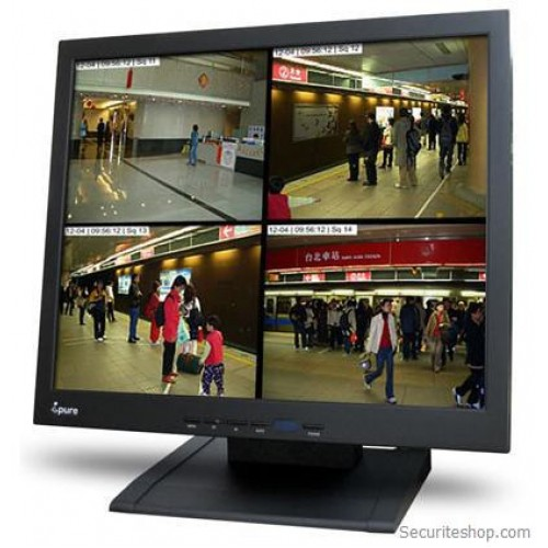 Monitor LCD IPURE Supraveghere 17 Inch, TFT , CCTV, BNC , S-Video