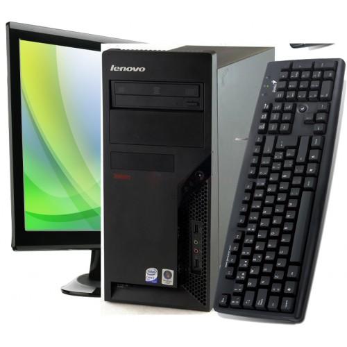 PC Lenovo Thinkcentre 46G Tower, Dual Core  AMD ATHLON 64 X2 3800+, 2.00Ghz, 2Gb DDR2, 160Gb HDD, DVD-RW cu Monitor LCD