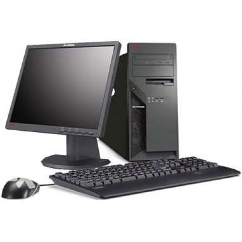 PC SH Lenovo M55 Tower, Intel Pentium E2140 1.60Ghz, 2Gb DDR2, 80GB HDD, DVD-ROM cu Monitor LCD