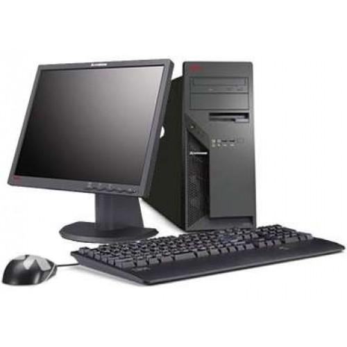 PC SH Lenovo M55 Tower, Intel Pentium E2140 1.60Ghz, 2Gb DDR2, 80GB HDD, DVD-ROM cu Monitor LCD