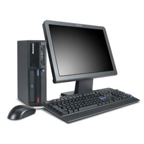 Pachet PC Lenovo Thinkcentre M58 desktop, Intel Core2Quad Q6600 2.4Ghz, 4GbDDR3, 160Gb HDD, DVD cu monitor LCD