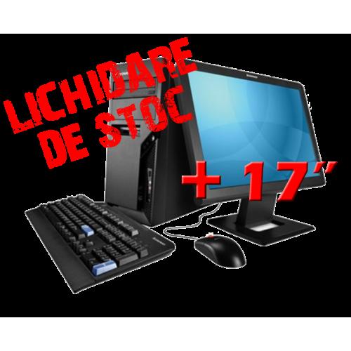 PC Lenovo 9156 Tower, AMD X2 4000+ , 2.2 GHz, 2GB DDR, 80GB HDD, DVD-ROM cu Monitor 17 inch***