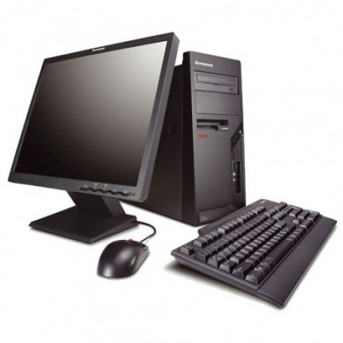 Calculator Second Hand Lenovo A55, Intel Core 2 Duo E4600 2.4Ghz, 2Gb DDR2, 160Gb SATA, DVD-ROM cu Monitor LCD