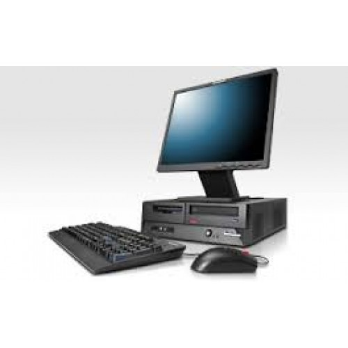 PACHET Calculator Lenovo M57 Desktop, Intel Core 2 Duo E6750, 2.66Ghz, 2Gb DDR2,HDD 160Gb SATA, DVD cu Monitor LCD