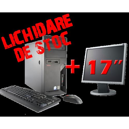 """Super Oferta Calculator Lenovo M58E, Intel Core 2 Duo E6550, 2.33Ghz,Memorie 2Gb DDR2,HDD 80Gb SATA,DVD-ROM cu Monitor 17"""" ***"""
