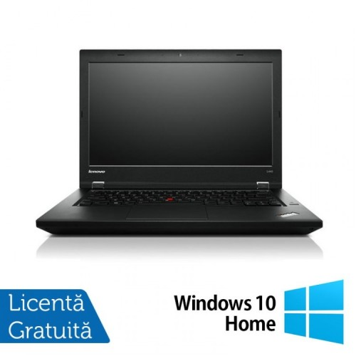 Laptop LENOVO ThinkPad L440, Intel Core i5-4300M 2.6GHz, 8GB DDR3, 320GB SATA, 14 Inch + Windows 10 Home, Refurbished