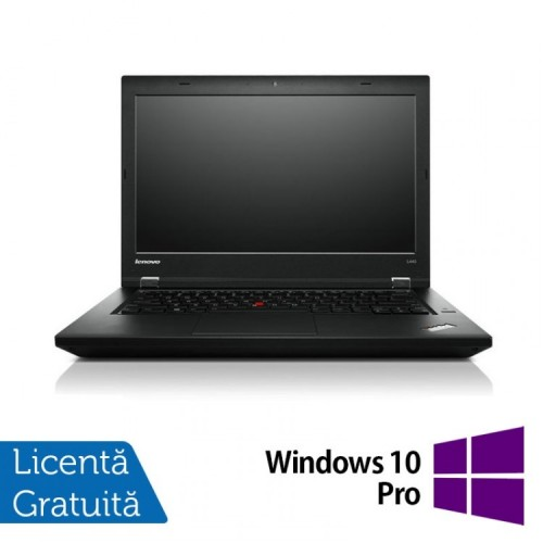 Laptop LENOVO ThinkPad L440, Intel Core i5-4300M 2.6GHz, 8GB DDR3, 320GB SATA, 14 Inch + Windows 10 Pro, Refurbished