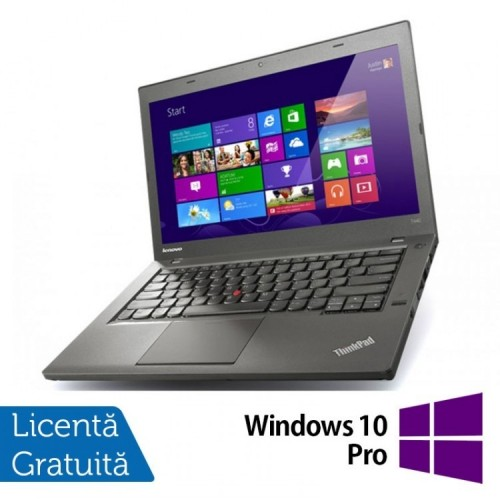 Laptop LENOVO ThinkPad T440P, Intel Core i5-4200M 2.5GHz, 8GB DDR3, 320GB SATA, DVD-RW, 14 Inch + Windows 10 Pro, Refurbished