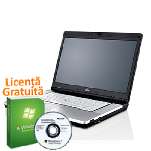 Laptop Fujitsu Siemens Lifebook E780, Intel Core i5-520M, 2.4Ghz, 4Gb DDR3, 160Gb HDD, DVD-RW + Windows 7 Premium