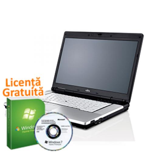 Laptop Fujitsu Siemens E780, Intel  i5-520M, 2.4Ghz, 4Gb DDR3, 160Gb HDD, DVD-RW + Windows 7 Professional