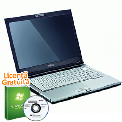Laptop Refurbished Fujitsu LifeBook S6420, Core 2 Duo P8700 2.53Ghz, 4GB DDR3, 160GB SATA, DVD-RW + Windows 7 Premium, Garantie 36 Luni