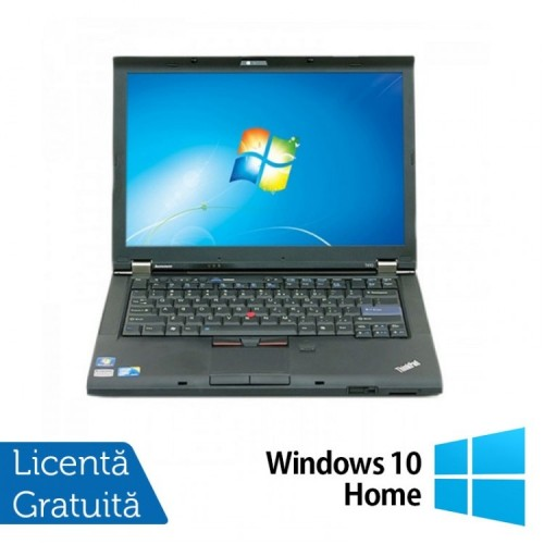 Laptop LENOVO T410, Intel Core i5-520M 2.40GHz, 4GB DDR3, 320GB SATA, DVD-RW, 14.1 Inch + Windows 10 Home, Refurbished