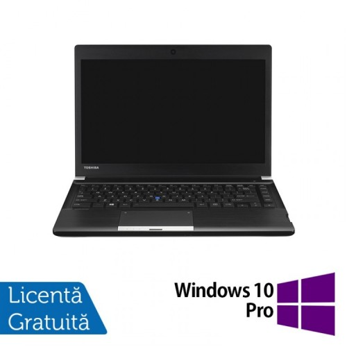 Laptop Toshiba Portege R30, Intel Core i5-4310M 2.70GHz, 4GB DDR3, 250GB SATA, 13 Inch + Windows 10 Pro, Refurbished