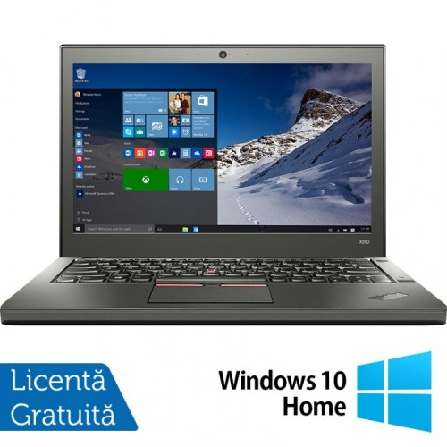 Laptop Lenovo Thinkpad X250, Intel Core i5-5300U 2.30GHz, 8GB DDR3, 500GB SATA, 12.5 Inch + Windows 10 Home, Refurbished