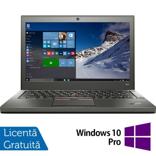 Laptop Lenovo Thinkpad X250, Intel Core i5-5300U 2.30GHz, 8GB DDR3, 500GB SATA, 12.5 Inch + Windows 10 Pro, Refurbished