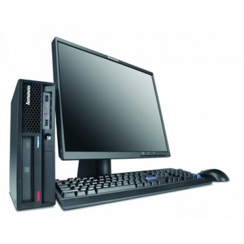 Calculator Lenovo Thinkcentre M58e SFF, Intel Core 2 Duo E7400, 2.80Ghz, 2Gb DDR2, 160Gb HDD cu Monitor LCD ***