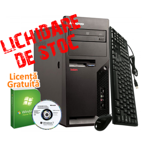 PC SH Lenovo M58p, Intel Core 2 Duo E6550, 2.0Ghz, 2Gb DDR2, 80Gb HDD, DVD-Rom + Licenta Windows 7 Premium***