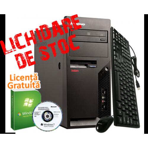 PC SH Lenovo M58p, Intel Core 2 Duo E6550, 2.0Ghz, 2Gb DDR2, 80Gb HDD, DVD-Rom + Licenta Windows 7 Premium***