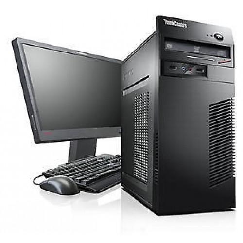 Pcahet Lenovo M70e Tower, Intel Core 2 DUO E8400 3,0GHz , 2Gb DDR2 HDD 250Gb DVD-RW cu Monitor LCD ***