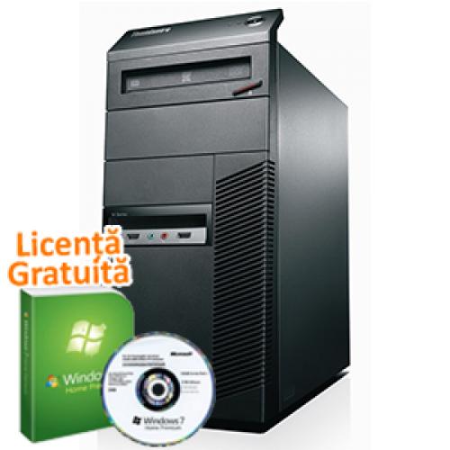 Unitate PC Lenovo M81, Intel Pentium Dual Core G630, 2.7Ghz, 4Gb DDR3, 250Gb SATA II, DVD-ROM + + Windows 7 Professional