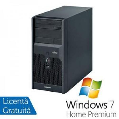 Calculatoare Fujitsu P3521, Intel Dual Core E5800, 3.2GHz, 4Gb DDR3, 320Gb SATA, DVD-RW + Windows 7 Home Premium
