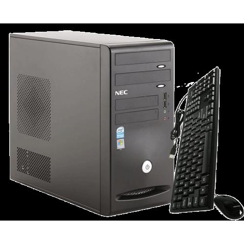 PC NEC VCR 201 Tower , Intel Core 2 Duo E6300 , 1,87GHz , 1Gb DDR2 , 80Gb DDR2 , DVD-ROM