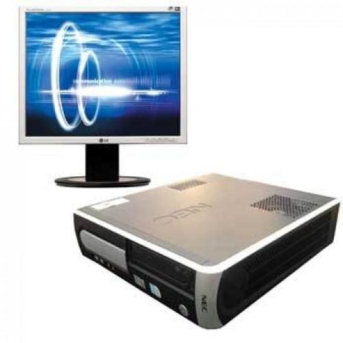 Calculator SH NEC Powermate VL350, AMD Sempron 3000+ 1.6Ghz ,1Gb DDR1, 80Gb, DVD-ROM cu Monitor LCD
