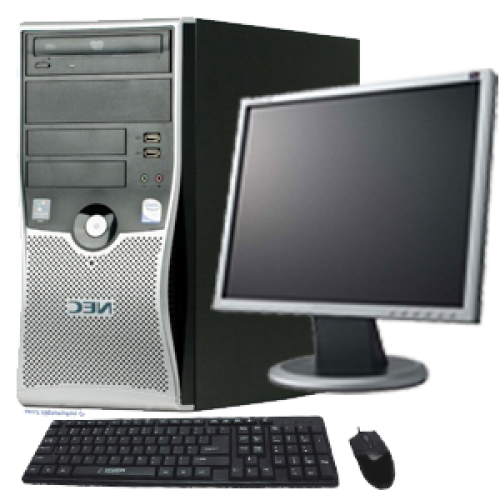 Pachet SH Nec ML470 Intel Core 2 Duo E7200,  2.53Ghz, 2Gb DDR2, 80Gb HDD, DVD cu Monitor LCD