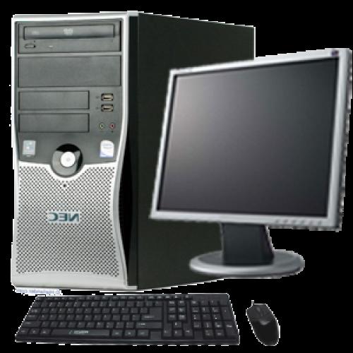 Pachet SH Nec ML470 Intel Core 2 Duo E7200,  2.53Ghz, 2Gb DDR2, 80Gb HDD, DVD cu Monitor LCD