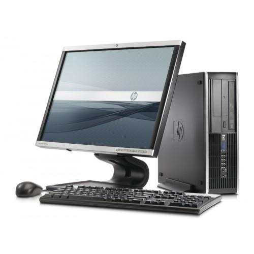 Computer HP Compaq Elite 8100 SFF, Intel Pentium Dual Core G6950 , 2,8Ghz, 2Gb DDR3, 250Gb, DVD-RW  cu Monitor 15 inch LCD