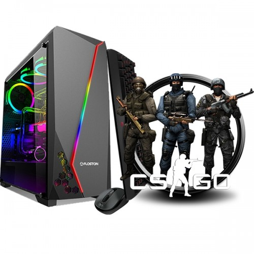 Calculator Gaming Fortnite Tower Intel Core i3-2100 3,10GHz 8Gb DDR3, 128 GB SSD + 500 GB HDD, Placa Video 2 GB DDR3 GeForce GT6xx, 128Biti- GTA5, CS-GO, Fortnite