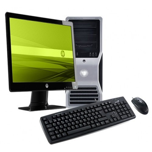 PACHET Calculator NO NAME Tower, Intel Dual Core E5300 2.6GHz, 4GB RAM, 250GB HDD, DVD-ROM cu Monitor LCD